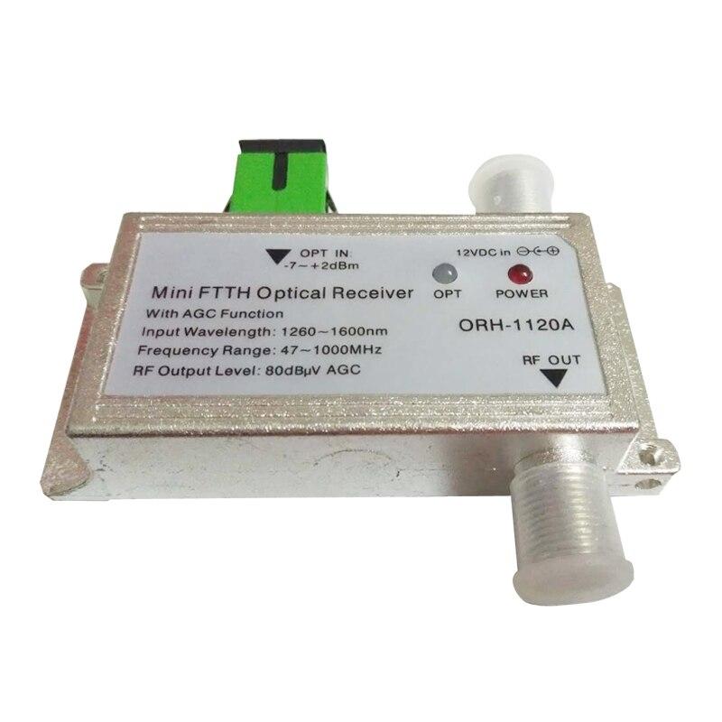 CATV FTTH noeud optique/récepteur 1310nm et récepteur actif AGC modèle ORH-1120A 47-1000 MHz, même fonction ORH-1020A mais pas de WDM