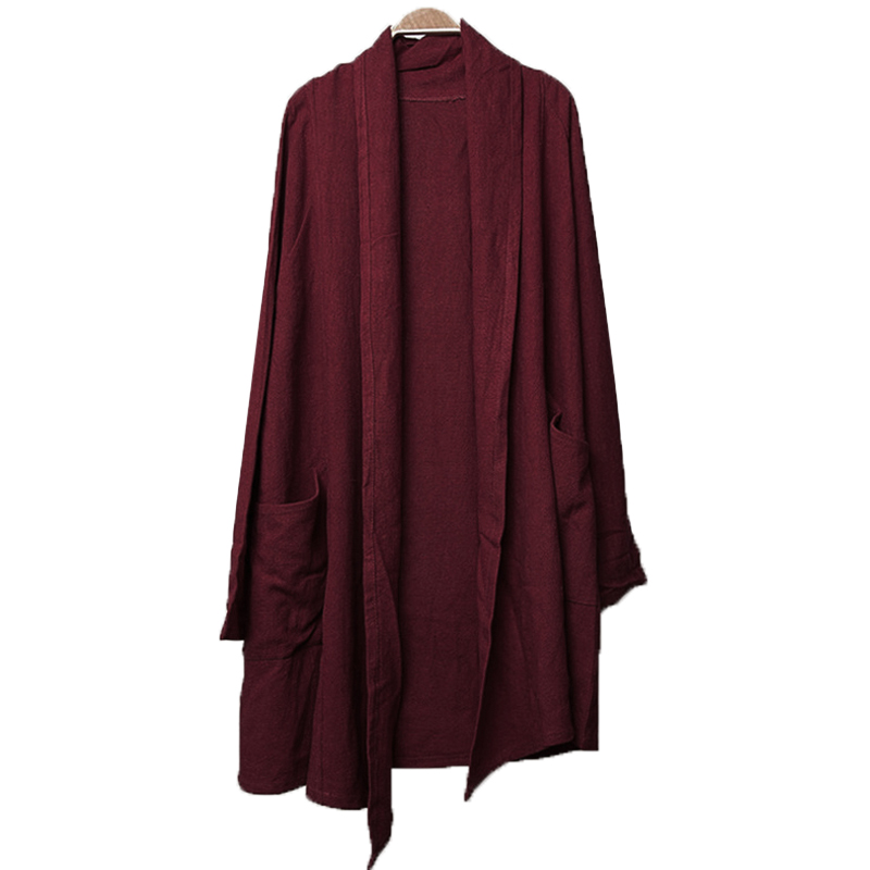 INCERUN Plus Size Mens Vintage   Trench   Coat Long Sleeve Cotton Irregular Casual Loose Outwear 2019 Autumn Long Cloak Cape Jackets