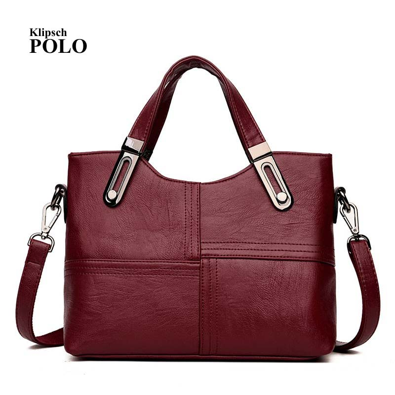 Genuine Leather Handbag Bolsa Feminina Luxury Handbags Women Bags Designer Sac a Main Bolsos Shoulder Bag 2018 Fashion Big Tote aitesen tote leather bag luxury handbags women messenger bags designer sac a main mochila bolsa feminina kors louis bags