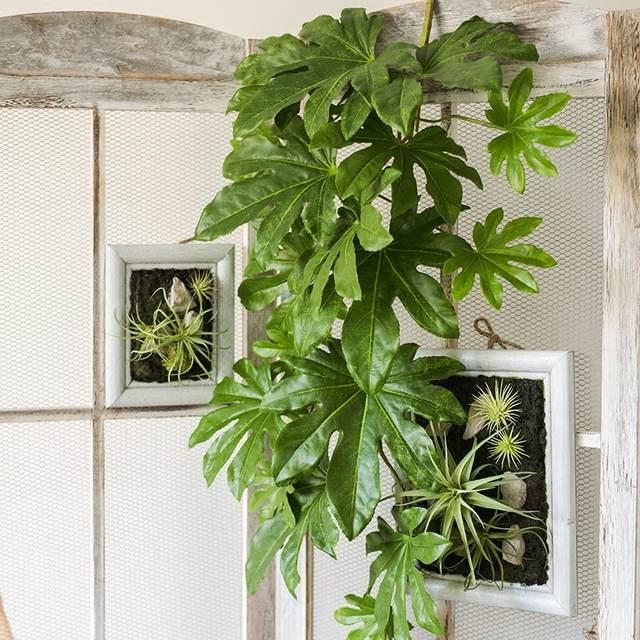 Grote Groene Plant.Us 17 99 10 Off Opknoping Steranijs Leaf Plant Kunstmatige Groene Plant Bladeren Muur Interieur Balkon Mand Grote Bloemstuk Accessoires In