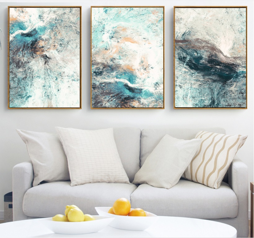 Modern Simplicity of Abstract Canvas Paintings Modular Pictures Wall Art Canvas for Living Room Decoration No Framed image