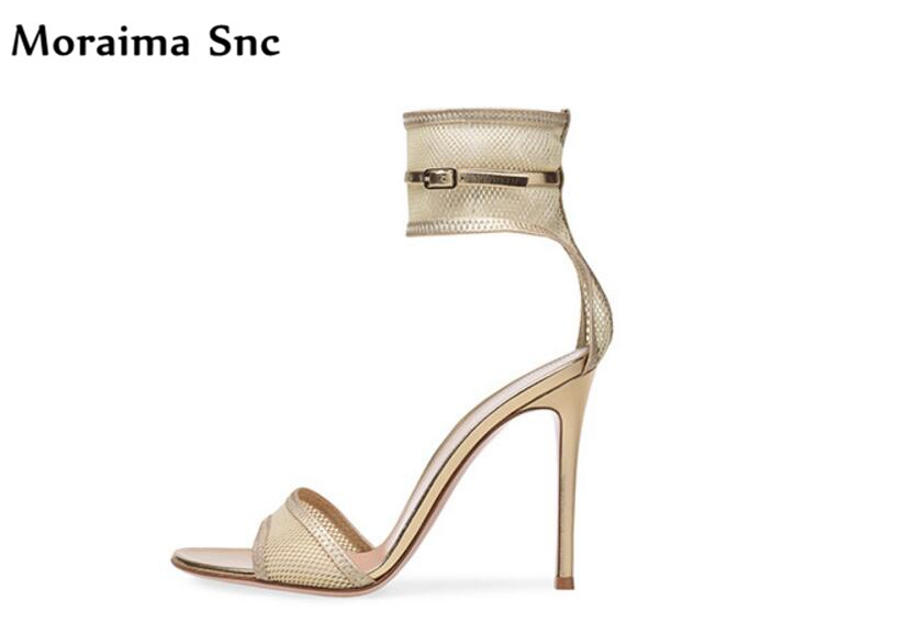 Moraima Snc hot selling 2018 women sandals concise type platform open toe Ankle strap buckle sexy high women shoes lace net vamp moraima snc newest sexy women black string bead concise type sandals open toe thin high heel ankle strap hook solid party shoes