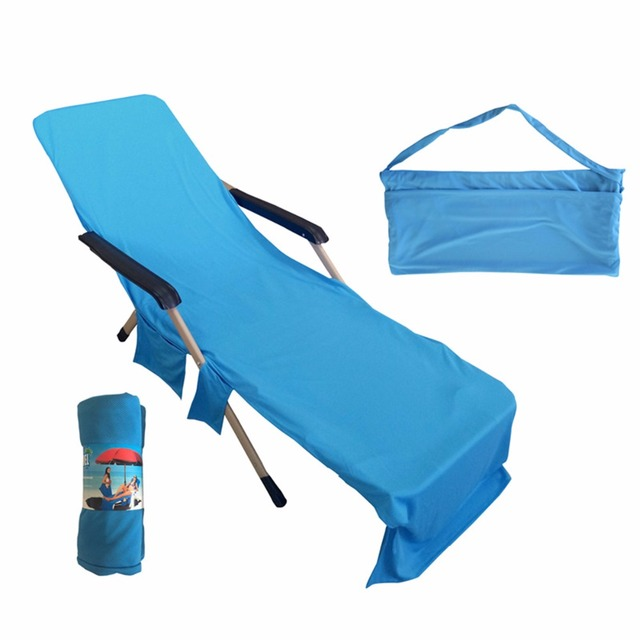 Beach Towels With Pocket For Lounge Chair Rustic Pads Microfiber Cover Portable Summer Holiday Cool Bed Garden Lounger Large