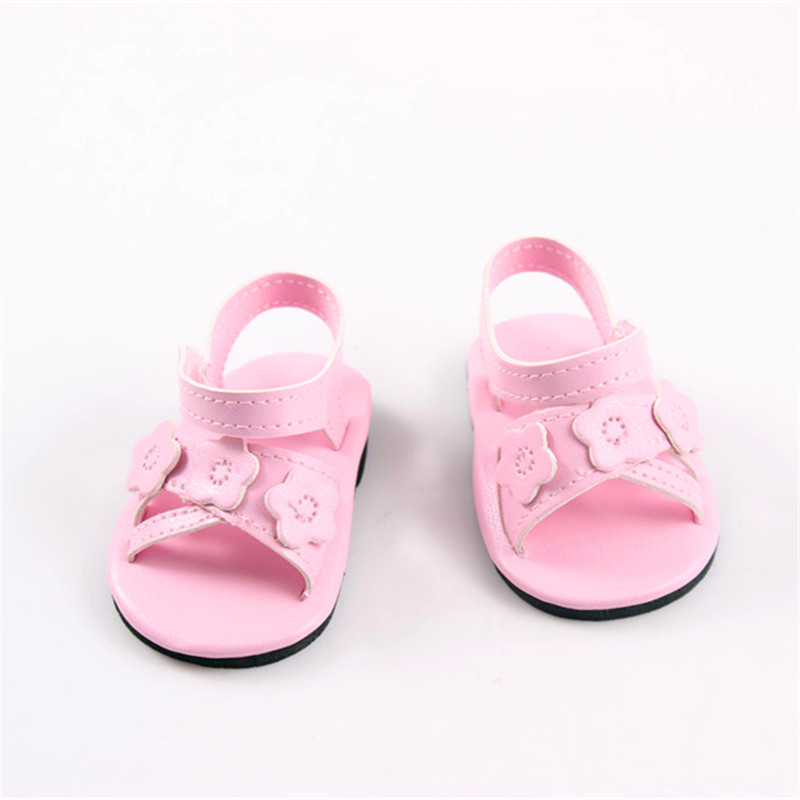 a84348079bdb7 Hot Style Rose Sandale Poupée Accessoires Nouveau Bébé Né Poupée Chaussures  Pour 18