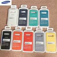Funda Original de silicona líquida Samsung Galaxy S10 Plus carcasa suave y sedosa para Galaxy S10 Lite/S10E con caja