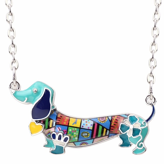 Creative Colorful Dog Shaped Pendant