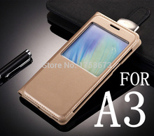 Flip Leather Skin Case for Samsung Galaxy A3 A300 A3000 A300F New Back Cover Luxury View