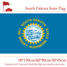 купить Free shipping South Dakota State Flag Of America 90*150cm 60*90cm Flag 3*5 Feet With Brass Metal Holes 30*45cm Car Flag дешево