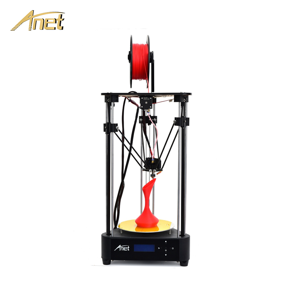 Anet A4 3D Printer Kit DIY Delta Structure Pulley Version Linear Guide Printing Size 200x210mm Impresora 3D Drucke with Filament