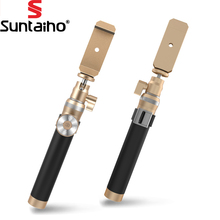 Luxury Bluetooth Monopod Selfie Stick Handheld Brushed Metal Monopod Shutter Extendable Tripod For Samsung For iPhone 6 6S Plus