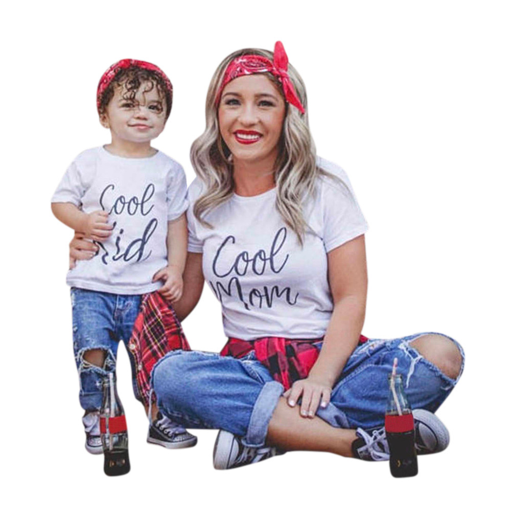 adsfay.com Family-Matching-Outfits-Father-Mother-Daughter-Son-Clothes-Look-tshirt-daddy-mommy-and-me-dress-mom
