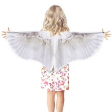 SPECIAL 120*70 cm White Wing Angel Kids Costume For Birthday Party Beautiful Dance Dress Show Fairy Fancy
