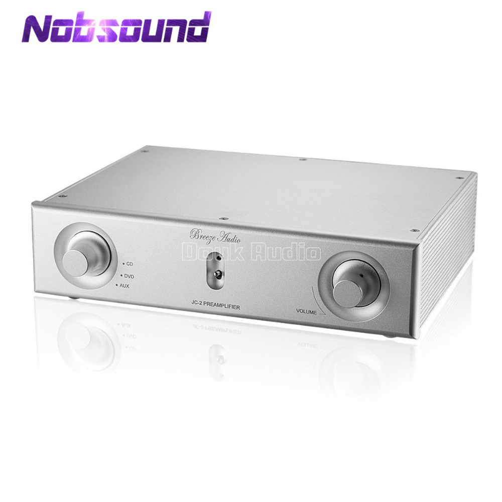 Nobsound High End Preamplifier HiFi Digital Pre-Amp 3 Stereo L/R RCA Audio Input REF Mark JC-2 Circuit Silver Classis цена и фото