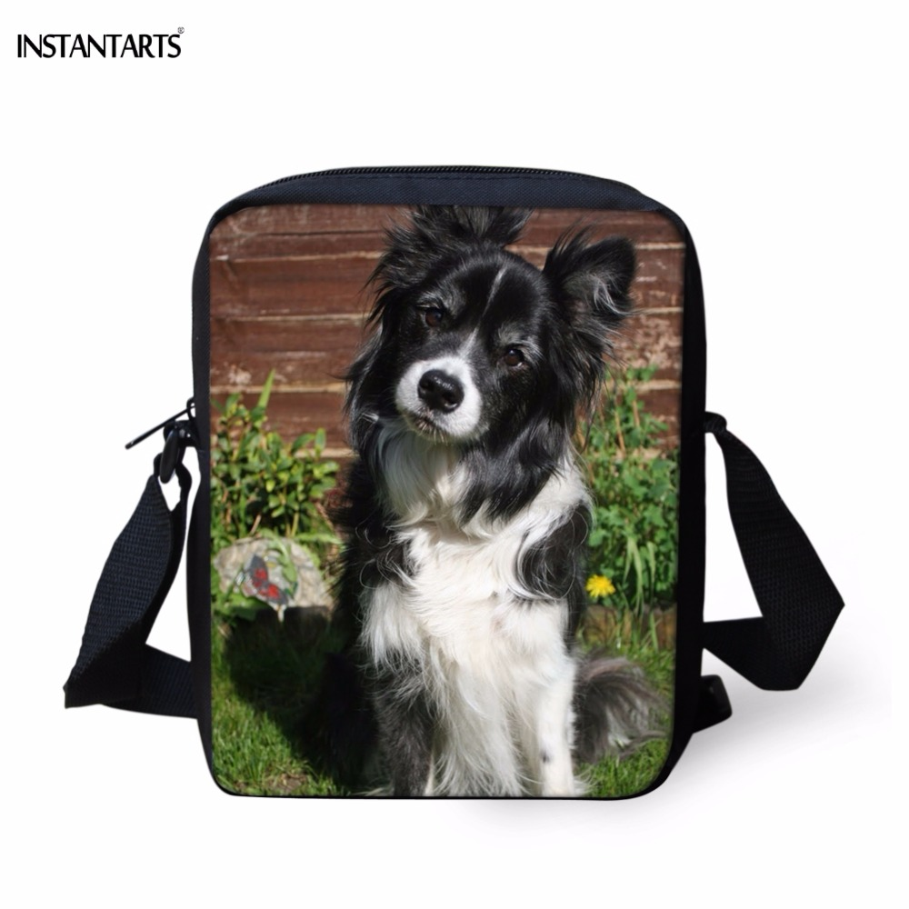INSTANTARTS Baby Mini School Bags Lovely Dog English Shepherd Print Boys Girls Messenger Bags Kindergarten Students School Bags