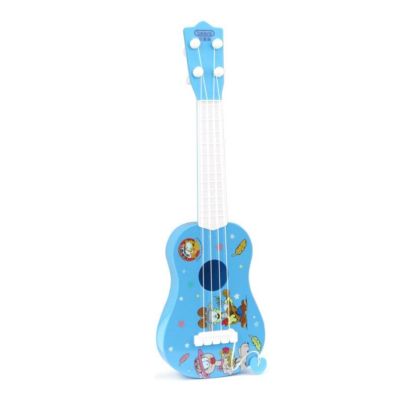 Children Ukulele Toy Playable 4 String Guitar Fingerboard Hawaii Mini Guitar Instrument Ukelele Unisex For Beginners