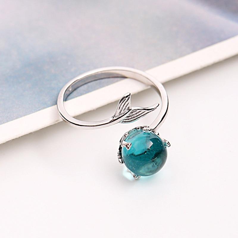 Schmuck & Zubehör Zn 2018 Einstellbare Ring Für Frauen Hochzeit Engagement Silber Überzug Finger Ring Schmuck Stilvolle Persönlichkeit Design Meerjungfrau