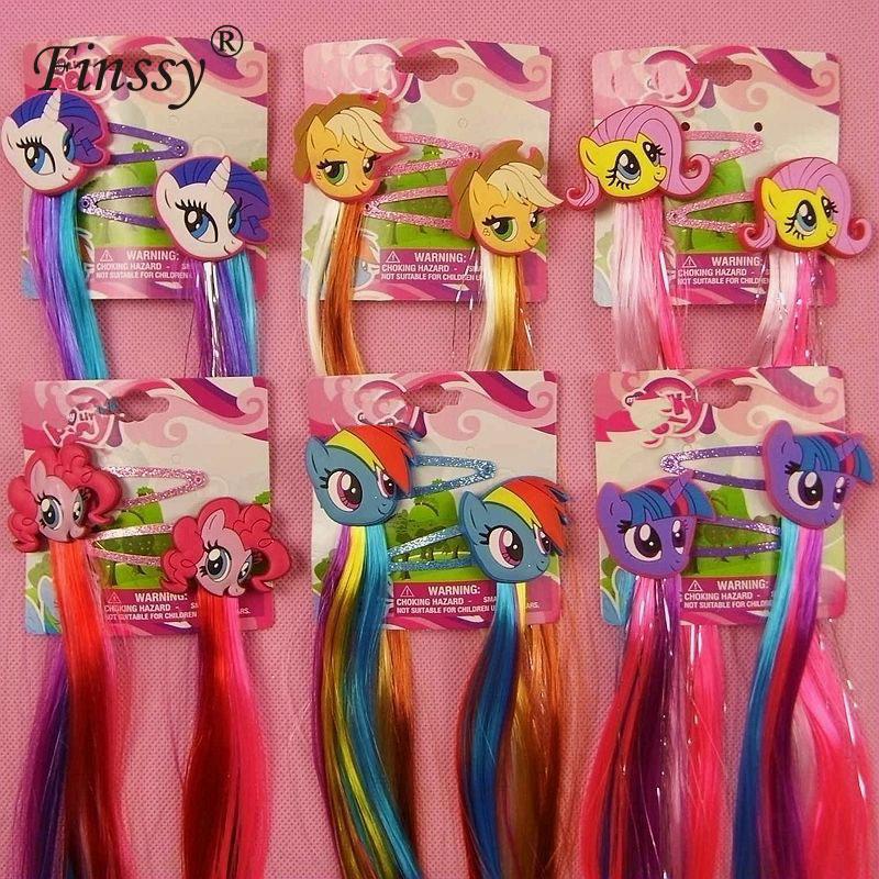 Little Ponys Hair Clips for Girls Hair Pins My Kids Girls Hair Accessories Headwear Little Ponys Princess Braid Hair Clips