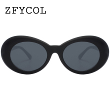 ZFYCOL Fashion Clout Goggles  kurt cobain Sunglasses Women Brand Original Designer Vintage Mirror Sun Glasses For Female/Male