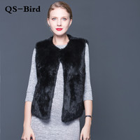 Sexy fur vest ladies the whole rabbit fur vest ladies leather fur coat winter fall sale fur coat fashion jacket high quality