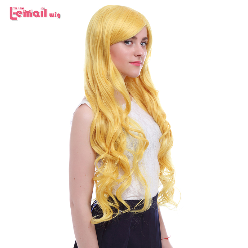 L email wig New Arrival Star vs. The Forces of Evil Cosplay Wigs Yellow Long Heat Resistant Synthetic Hair Perucas Cosplay Wig-in Synthetic None-Lace  Wigs from Hair Extensions & Wigs
