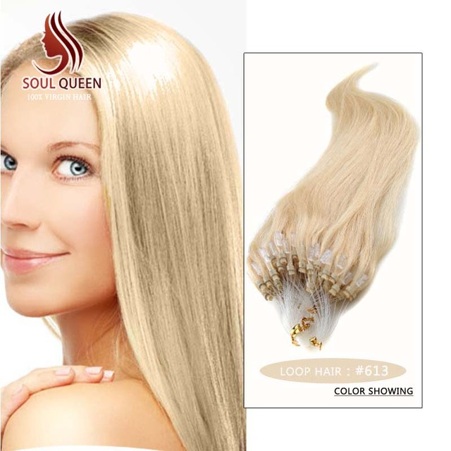 Micro Loop Ring Hair Extension 18inch 24inch 50g Color 613 Indian