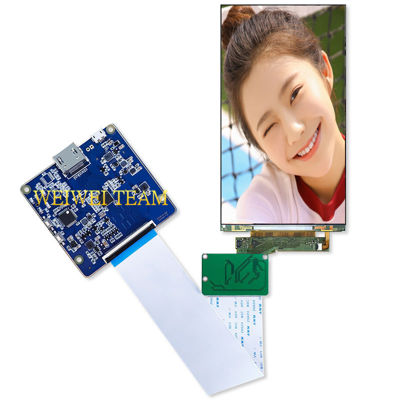 5.5 inch 4k LCD Display 3840*2160 Panel UHD screen With Hdmi To Mipi controll board For 3D printer Wanhao D7 KLD-1260(China)