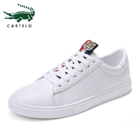 CARTELO 2019 New Men's Casual Flat Shoes Fashion Breathable Shoes Men White Sneaker Wild Fashion Classic flat