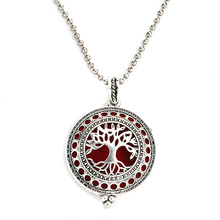 MODKISR Tree Of Life 30mm High Quality Magnetic Aromatherapy Diffuser Jewelry Locket Pendant Essential Oil Scent Necklace(China)