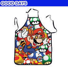Super Mario Cartoon kitchen Cooking  cucina Apron  tablier  Bar Restaurant Apron Outdoor BBQ Apron Wedding Funny Apon