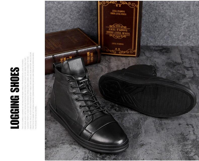 qualidade couro genuíno botas de tornozelo moda