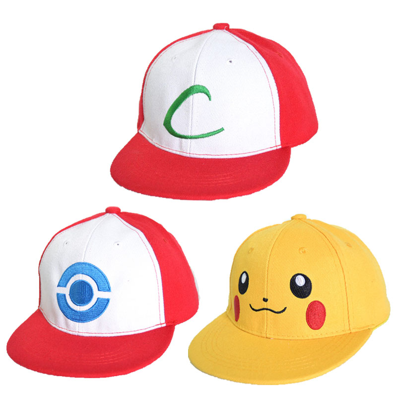 New Visor Cap POKEMON ASH KETCHUM COSTUME Cosplay Hat free shipping 1pcs pocket monster ash ketchum fans cartoon hat c mesh adjustable pokemon baseball cap costume party carnival trainer hat