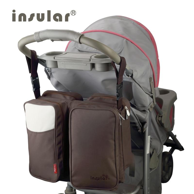 Grand sac à couches insulaire organisateur sacs à couches sacs de maternité pour mère bébé sac poussette sac à main