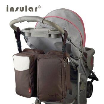 INSULAR Large diaper bag organizer nappy bags maternity bags for mother baby bag stroller diaper handbag