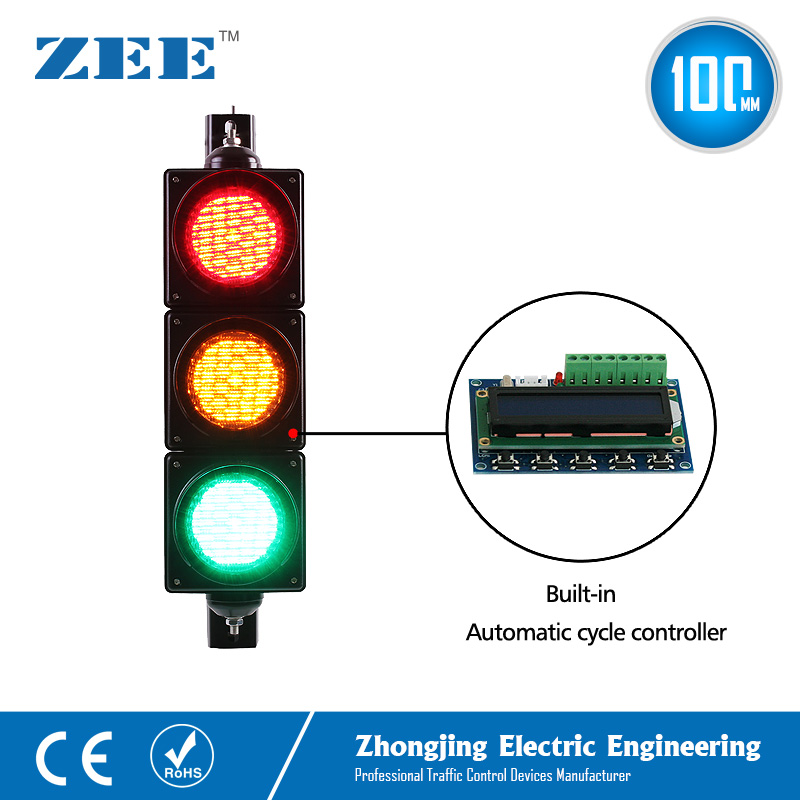 Купить с кэшбэком Low Cost Built-in Automatic Cycle Traffic Light Controller LED Traffic Light Simplified Traffic Controller LED Traffic Signals
