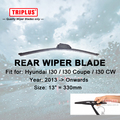 "Lâmina de Limpador traseiro para Hyundai i30 (2013-Onwards) 1 pc 13 ""330mm, Traseira Do Carro Brisas, Janela traseira Pára Wiper Blades"