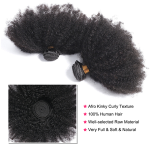 "Image 2 - בלינג שיער ברזילאי האפרו קינקי שיער מתולתל Weave חבילות 100% רמי שיער טבעי הרחבות מכונה כפול ערב צבע טבעי 8 20"""