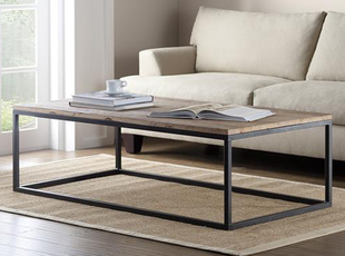 American Furniture Wrought Iron Coffee Table Made Of Old Wood Furniture / Iron  Oak Coffee Table