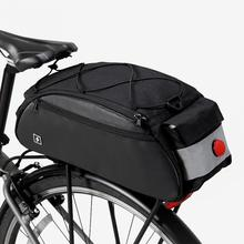 Portable 10L Bike Saddle Bag Cycling Seat Pouch Bicycle Tail bags Rear Pannier Cycling Luggage Shoulder Handbag roswheel 10l cycling bike carbon fiber leather bicycle rear rack seat pannier bag pouch