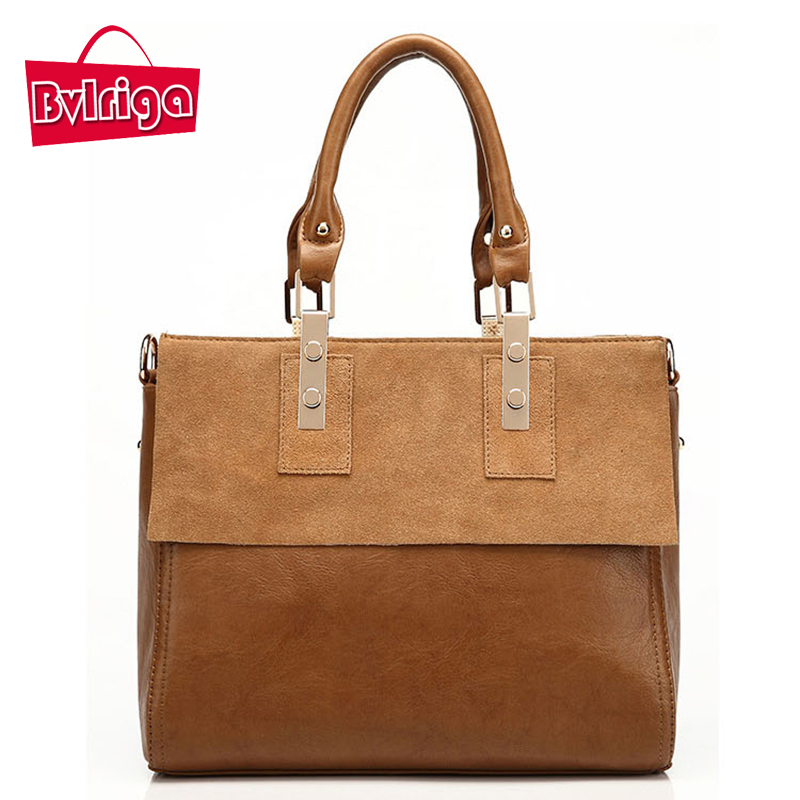 ФОТО BVLRIGA Women bag ladies frosted Genuine leather bag vintage bags handbags women famous brands women messenger bags dollar price