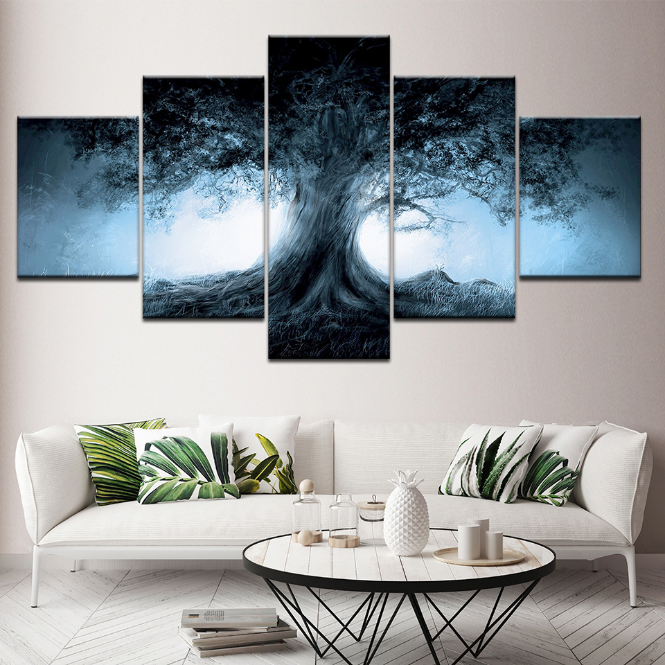 Canvas Painting Tree Of Life 5 Pieces Wall Art Painting Modular