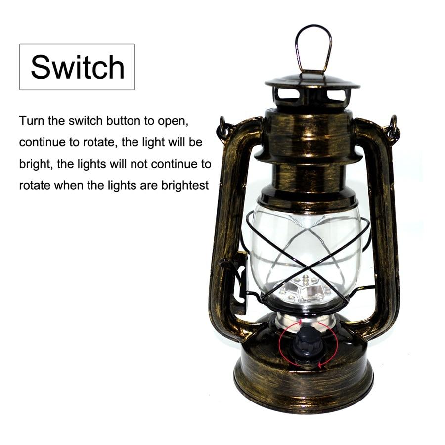 Portable Light LED Barn Lantern Classical Style Oil Lamp Multi ...