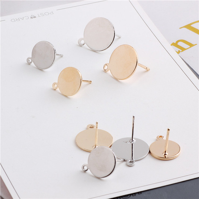Copper DIY handmade earrings long temperament with hanging round material fashion earrings earrings accessories 1