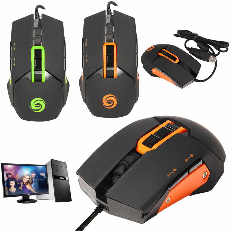 Centechia New Wired Mouse Gaming Mouse Human Engineering 9 key  multi-function button design suitable for Left and right hand