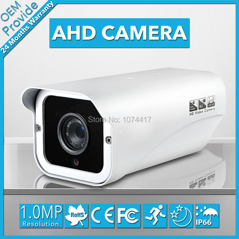AHD2100PH-E Free Shipping HD 1.0MP 1280*720P AHD Camera Box 50M IR Distance Analog HD security camera