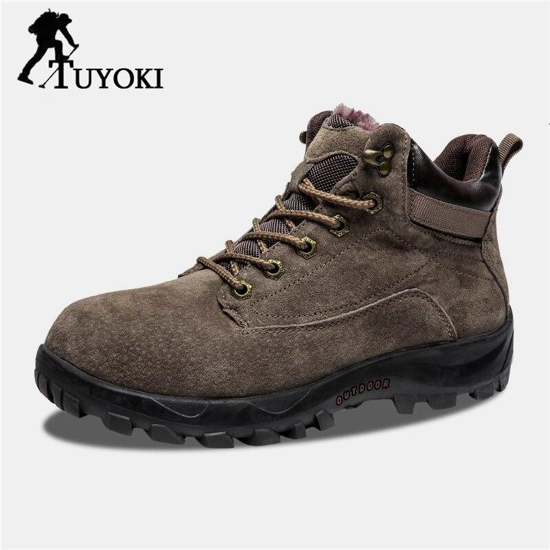 Tuyoki quotidien décontracté haute qualité mode chaussures de randonnée hommes épais fond Trekking Camping Sneaker chaussures confortables hommes taille 40-44