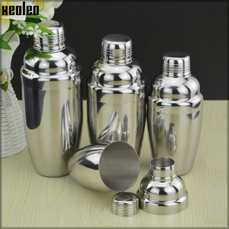 Stainless Steel Shake Cup Cocktail Shaker Shake Pot Milk Teapot 350cc/530cc/700cc/1000cc Boston Shaker Cup Bar Tools