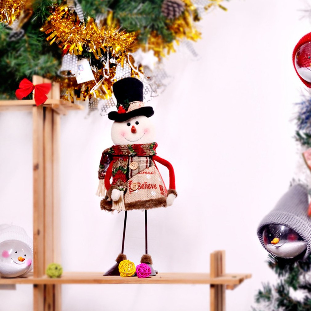 2018 new Dynamic Swinging Santa Snowman Decoration Fabric Doll Christmas Decoration Gift Christmas Stuff Table Decodropshipping in Tree Toppers from Home Garden