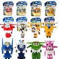 8 Estilo Coreano Anime SuperWings Modelo Mini Aviões de brinquedo Avião Transformação Robô Figuras de Ação asas brinquedo para o bebê