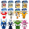 8 Style Korean Anime SuperWings Model Mini Planes toy Transformation Airplane Robot Action Figures  wings toy for baby