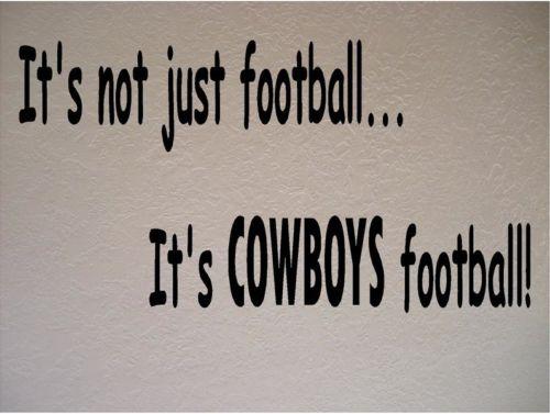 Dallas Cowboys Football Nfl Vinyl Wall Art Room Removable Decal Sticker Size 56 33cm